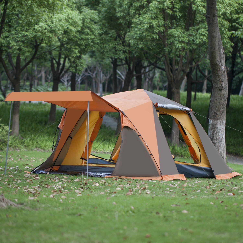 Sekundenzelt 3 Personen Zelt Familienzelt Tunnelzelt Camping Schnellaufbau Quick