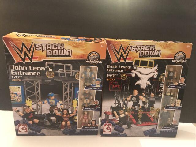 2 New WWE Stackdown Entrance Sets. John Cena & Brock Lesnar. 6 Figures Total