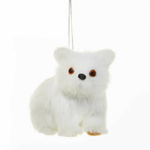 Plush White Polar Bears /& Fox Ornament