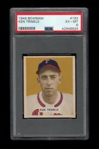 1949-Bowman-BB-Card-193-Ken-Trinkle-Philadelphia-Phillies-ROOKIE-PSA-EX-MT-6