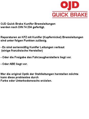 3.1997 Bremsleitung 420mm Länge hinten rechts VW Taro Pick-up 2,4 4x4 bis Bj
