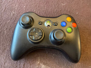 Genuine Microsoft Xbox 360 Black Wireless Controller OEM - Tested & Working