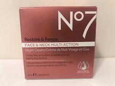No7 Restore Reface Neck Multi Action Night Cream 1.69oz