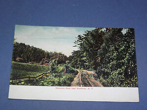VINTAGE-MOUNTAIN-ROAD-NEAR-NORTHVILLE-NEW-YORK-POSTCARD