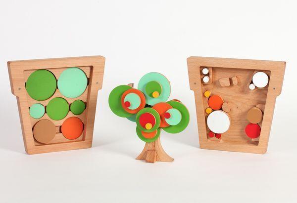 Wodibow - Holzspielzeug - CWIC 4 Jahreszeiten Baum - 100% ökologisch Handarbeit