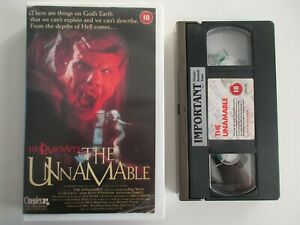 The Unnamable UK VHS Cineplex