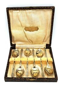 1900-039-s-antique-silver-plated-set-of-6-monk-spoons-in-original-box-Very-nice-set
