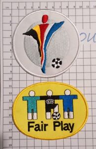 Patch-Badge-Euro-2000-maillots-foot-Patch-Fair-Play-France-Italie-Portugal
