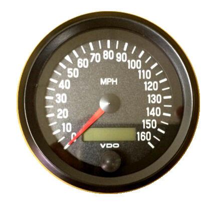 "Cockpit 437-053 Speedometer VDO Genuine gauge 160 MPH 3-3//8/""//86mm"