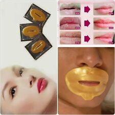 3 x Gold Collagen Lip Mask 24K Crystal Moisturising Anti Ageing Bigger Full Lips