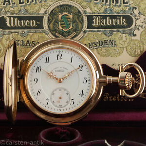 A-Lange-amp-Soehne-Louis-XV-Repetition-Original-Box-Zertifikat-Taschenuhr-1905