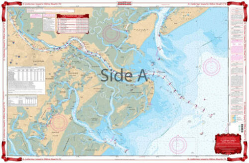 Waterproof Charts 97 St. Catherines Sound to Hilton Head ICW Standard- FREE Ship