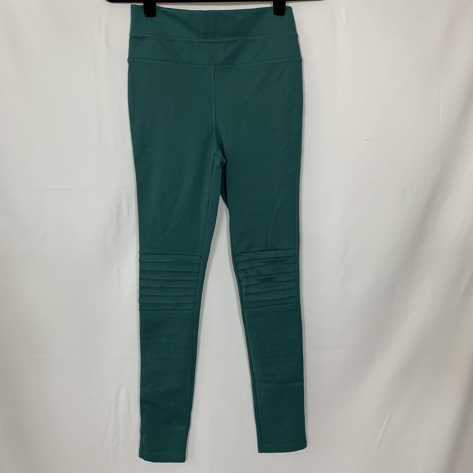 FP FREE PEOPLE MOVEMENT Women's Green High Waist Moto Leggings Yoga Pants Size S