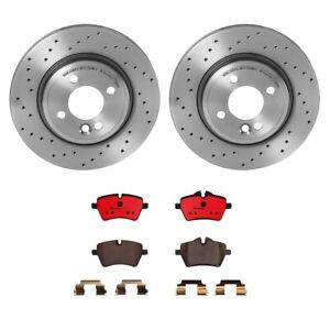 Brembo Front Rear Brake Kit Disc Rotors Ceramic Pads Sensor For Mini R50 R52 R53