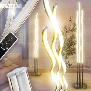 led stehlampe fernbedienung stand boden leuchten b ro wohn zimmer beleuchtung ebay. Black Bedroom Furniture Sets. Home Design Ideas