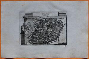 100% De Qualité Van Der Aa Gravure Originale C1725 Plan D'avignon Provence Vaucluse Rhône Pont Prix Le Moins Cher De Notre Site
