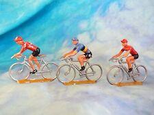 3 figurines de cyclistes en aluminium COFALU - SALZA ? Lot 10 (ref V27)