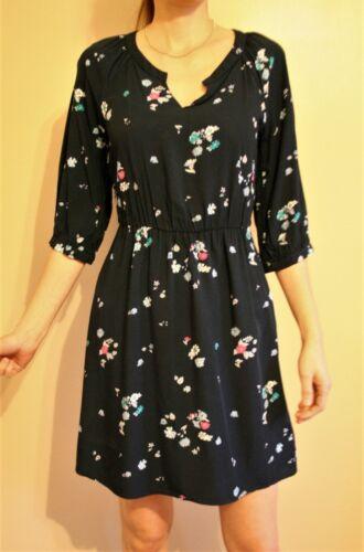 XS Navy Floral Flirty Dress