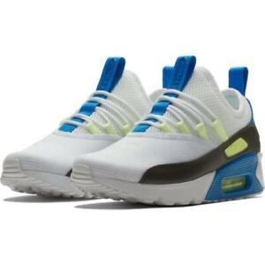 Details about WOMEN'S NIKE AIR MAX 90 EZ scarpa SIZE: 7.5 WHITE BLACK BLUE NEBULA AO1520 102