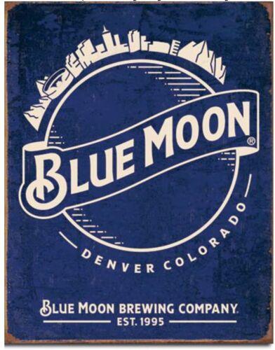 Blue Moon Metal Tin Sign Retro Vintage Look Garage Bar Shop Home Wall Decor New