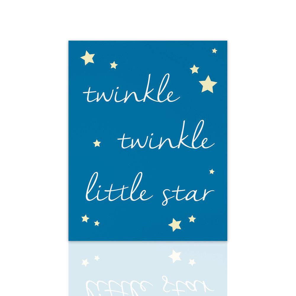 Quadro moderno per bambini TWINKLE TWINKLE - ideale per la cameretta nascita