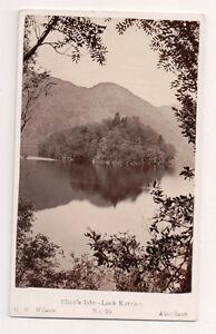 Vintage-CDV-Ellen-039-s-Isle-Loch-Katrine-Scotland-G-W-Wilson-Ph-Aberdeen