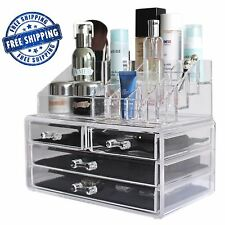 Luxury Acrylic Jewelry Makeup Cosmetic Organizer Case Storage Display Holder