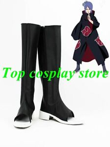33a843ace3010 Details about Naruto Konan Akatsuki Ninja Cosplay Shoes boots PU leather  shoe boots gift party