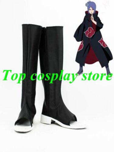 Naruto Konan Akatsuki Ninja Cosplay Shoes boots PU leather shoe boots gift party