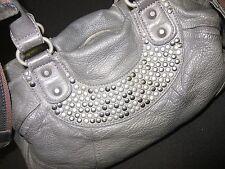 ❤️  LIEBESKIND ESTHER  ❤️ Grau mit Nieten Handtasche Leder Tasche Umhängetasche