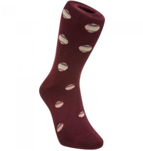 BNWT Signature Multi Stripe Polka Dots //Burgundy Paul Smith Men/'s Socks