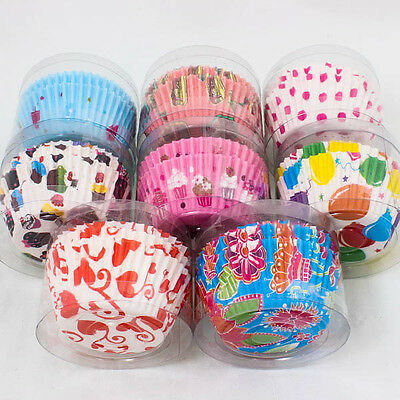 24PCS x Cute Pattern Paper Cupcake Cup Liner Case Muffin Baking Tool Party A0825