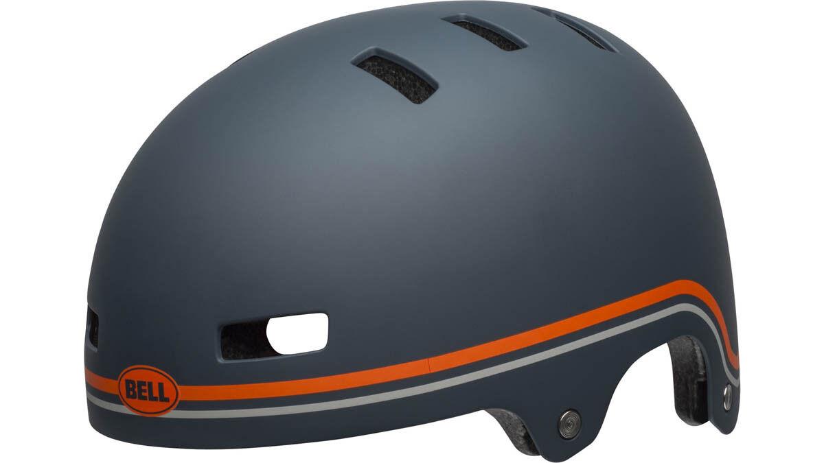 Bell local BMX Dirt bicicleta casco gris naranja 2019