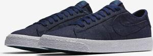 Nike-SB-Blazer-Mens-Trainers-UK-Size-8-Zoom-Skate-Shoes-Blue-White