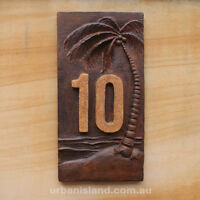 Custom House Sign, Personalised Address House Numbers Plaque Palm Tree Wall Sign