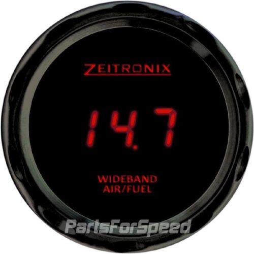 Zeitronix Zt-3 Wideband Oxygen Sensor Kit LSU 4.9 AFR /& ZR-3 Black Gauge Red LED