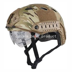 Tactical Airsoft Fast PJ Helmet w  Eye Predection Rails NVG Mount Multicam CP