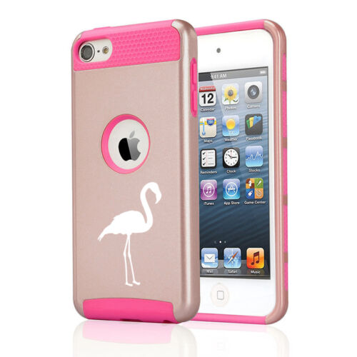 For Apple iPod Touch 5th 6th Shockproof Impact Hard Soft Case Cover Flamingo