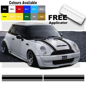 MINI-One-MINI-Cooper-Bonnet-Stripes-Vinyl-Graphics-Decals-Stickers-Livery