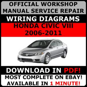 official workshop service repair manual for honda civic viii 2006 rh ebay com honda civic hybrid 2009 owners manual pdf 2009 Honda Civic Hybrid Battery