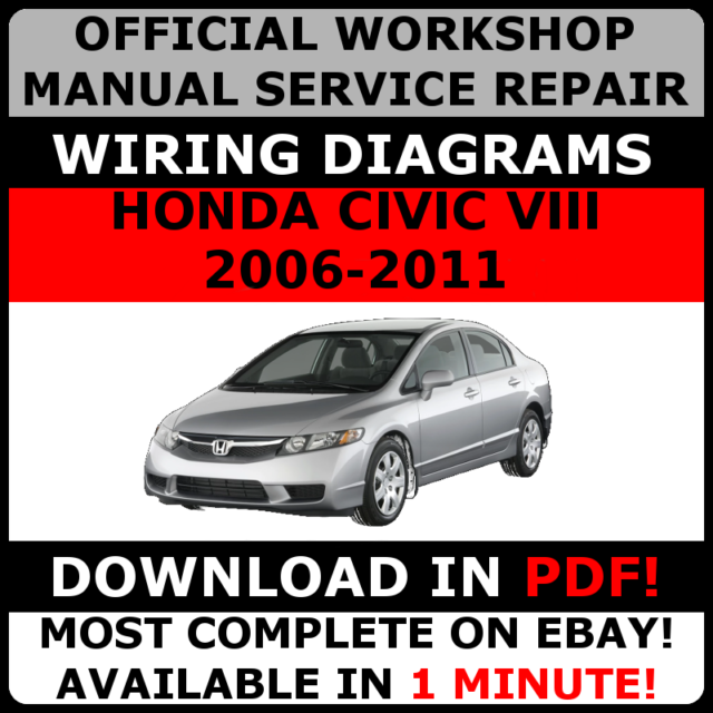 official workshop manual service repair honda civic viii 2006 2011 rh ebay co uk Honda Civic Manual Water PU Honda Civic Owners Manual
