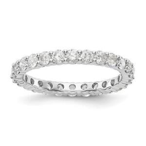 Image Is Loading 14k White Gold Round Diamond Eternity Band Ring