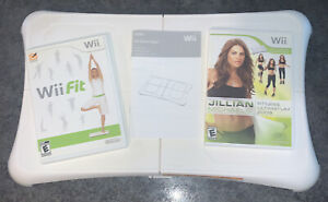 Nintendo Wii Fit bundle with Balance Board/2 Games Cleaned/Sanitized Tested