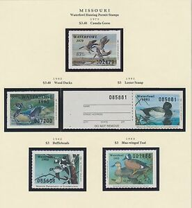 Missouri hunting permit stamps 1979 1996 cv 699 bs6394 ebay for Mo fishing license