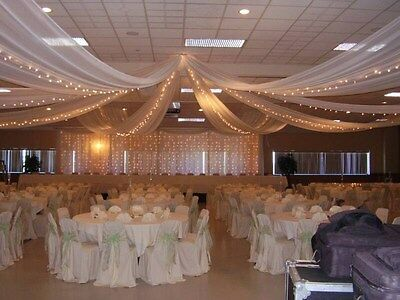"""54""""x 40 Yards 120 Ft Tulle Wedding Decoration 25 Colors Tutu Craft Draping Event"""