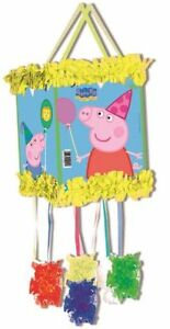 PEPPA-PIG-PULL-STRING-PINATA-amp-BLINDFOLD-CHILDRENS-PARTY-GAME-395-809