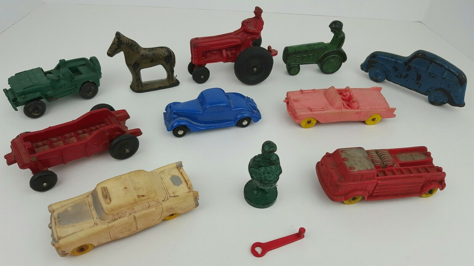 (12) Piece Variety Lot of Miscellaneous Rubber Toys Auburn Sun Barr Parts Repair