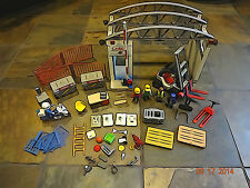Playmobil #4314 Airport Cargo Zone - Forklift - Police Motorcycle Lot +