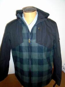 Pendleton-Jackson-Hole-Hooded-Jacket-NWT-Large-385-Olive-amp-Black-Buffalo-Plaid