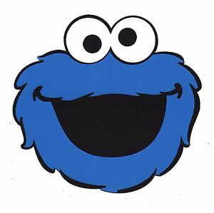 Details About Cookie Monster Party Decorations 6 X 6 25 Cookie Monster Die Cuts 2 Pieces